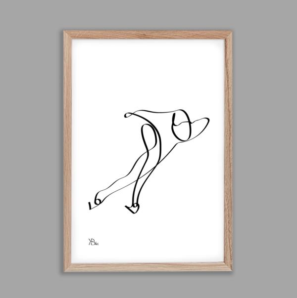 KB-Art-schaatser-one-line-art