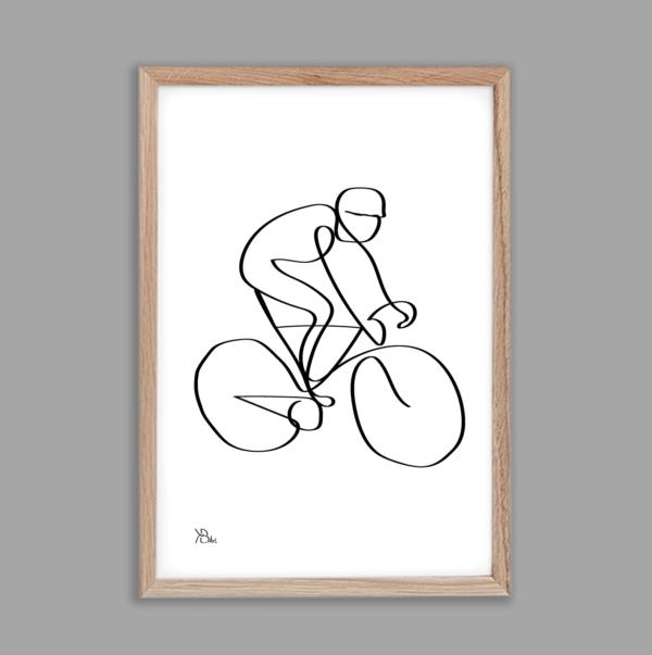 KB-Art-wielrenner-one-line-art